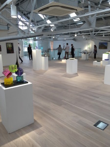 A temporary exhibition was held in the partially completed museum in 2016.
