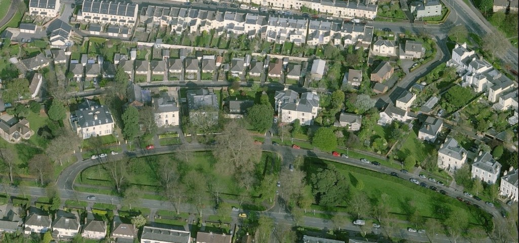 Pittville Crescent aerial