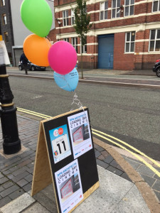 JQ Fest 2017_A-board balloons